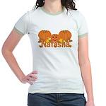 Halloween Pumpkin Natasha Jr. Ringer T-Shirt