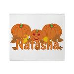 Halloween Pumpkin Natasha Throw Blanket
