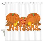 Halloween Pumpkin Natasha Shower Curtain