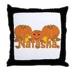 Halloween Pumpkin Natasha Throw Pillow