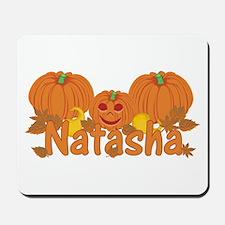Halloween Pumpkin Natasha Mousepad