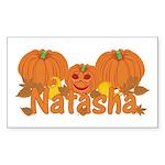 Halloween Pumpkin Natasha Sticker (Rectangle)