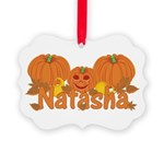 Halloween Pumpkin Natasha Picture Ornament