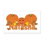 Halloween Pumpkin Natasha Rectangle Car Magnet