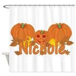 Halloween Pumpkin Nichole Shower Curtain