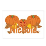 Halloween Pumpkin Nichole Postcards (Package of 8)