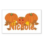 Halloween Pumpkin Nichole Sticker (Rectangle)