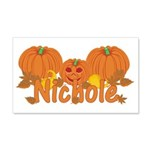 Halloween Pumpkin Nichole 20x12 Wall Decal