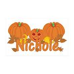 Halloween Pumpkin Nichole 35x21 Wall Decal