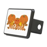 Halloween Pumpkin Nichole Rectangular Hitch Cover