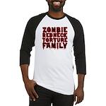 Zombie Redneck Torture Family Blood Baseball Tee