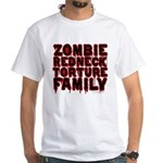 Zombie Redneck Torture Family Blood White T-Shirt
