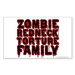 Zombie Redneck Torture Family Blood Sticker