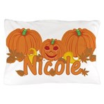 Halloween Pumpkin Nicole Pillow Case