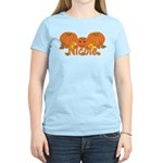 Halloween Pumpkin Nicole Women's Light T-Shirt