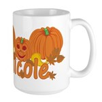 Halloween Pumpkin Nicole Large Mug