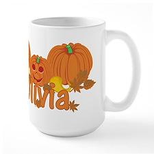 Halloween Pumpkin Olivia Mug