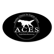 B&W ACES logo Rectangle Decal