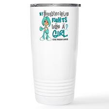 Fights Like a Girl 42.9 Ovarian Cancer Travel Mug