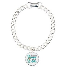 Fights Like a Girl 42.9 Ovarian Cancer Charm Brace