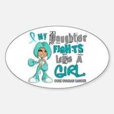 Fights Like a Girl 42.9 Ovarian Cancer Decal