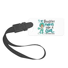Fights Like a Girl 42.9 Ovarian Cancer Luggage Tag