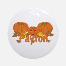 Halloween Pumpkin Payton Ornament (Round)