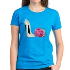 Wedding Stiletto Shoe and Roses Tee