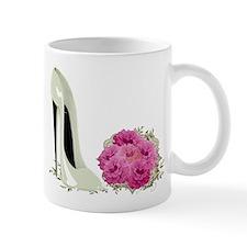 Wedding Stiletto Shoe and Roses Mug