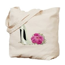 Wedding Stiletto Shoe and Roses Tote Bag