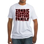 Zombie Redneck Torture Family Blood Fitted T-Shirt