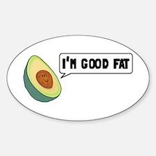 Avocado: Good Fat Sticker (Oval)