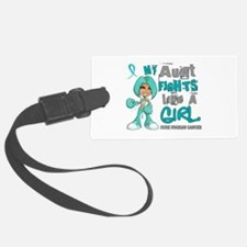 Fights Like a Girl 42.9 Ovarian Cancer Luggage Tag