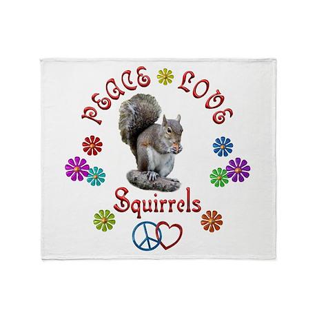 Peace Love SQUIRRELS Throw Blanket