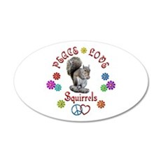 Peace Love SQUIRRELS Wall Decal