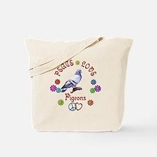 Peace Love PIGEONS Tote Bag