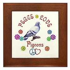 Peace Love PIGEONS Framed Tile
