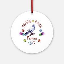 Peace Love PIGEONS Ornament (Round)