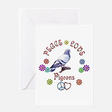 Peace Love PIGEONS Greeting Card