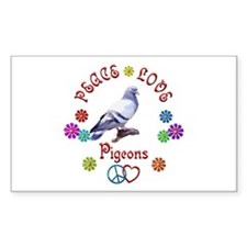 Peace Love PIGEONS Decal