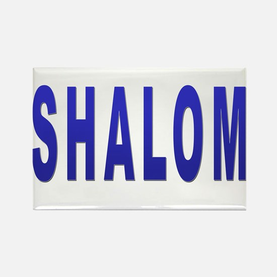 JEWISH SHALOM HEBREW Rectangle Magnet