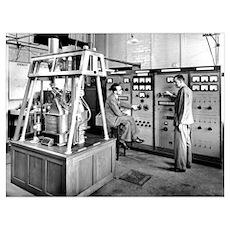 Mass spectrometer, 1954 Poster