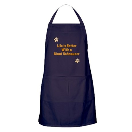 Life is better with a Giant Schnauzer Apron (dark)