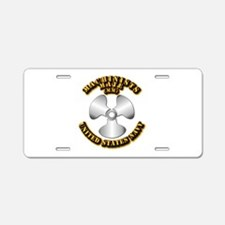 Navy - Rate - MM Aluminum License Plate