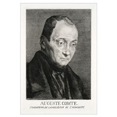 Auguste Comte, French philosopher Poster