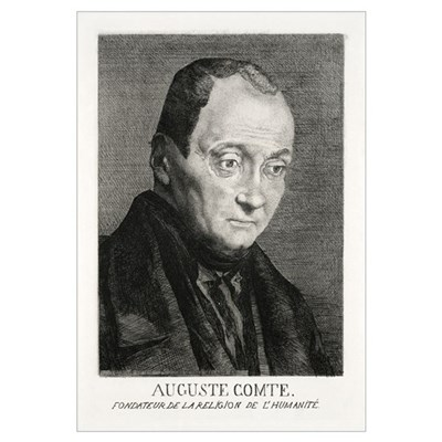 Auguste Comte, French philosopher Canvas Art
