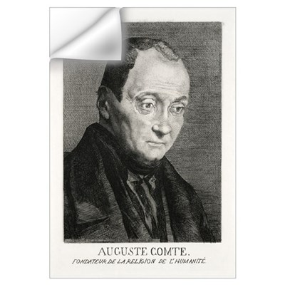 Auguste Comte, French philosopher Wall Decal