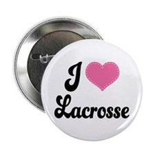 "I Love Lacrosse 2.25"" Button"