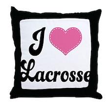 I Love Lacrosse Throw Pillow