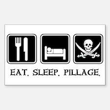 Eat. Sleep. Pillage. Rectangle Decal